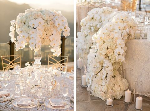 Beautiful gold and white wedding at Malibu Rocky Oaks in Malibu, California by Michael Segal Photography www.michaelsegalphoto.com